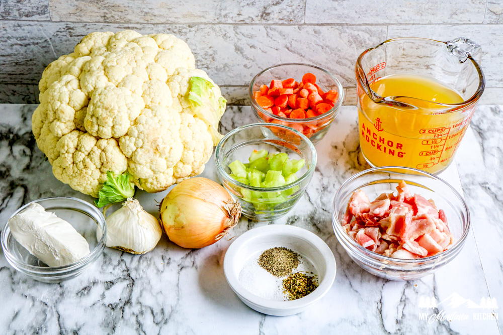 Ingredients for Cauliflower Chowder With Bacon