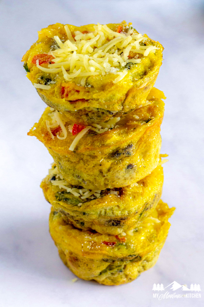 stack of keto egg muffins
