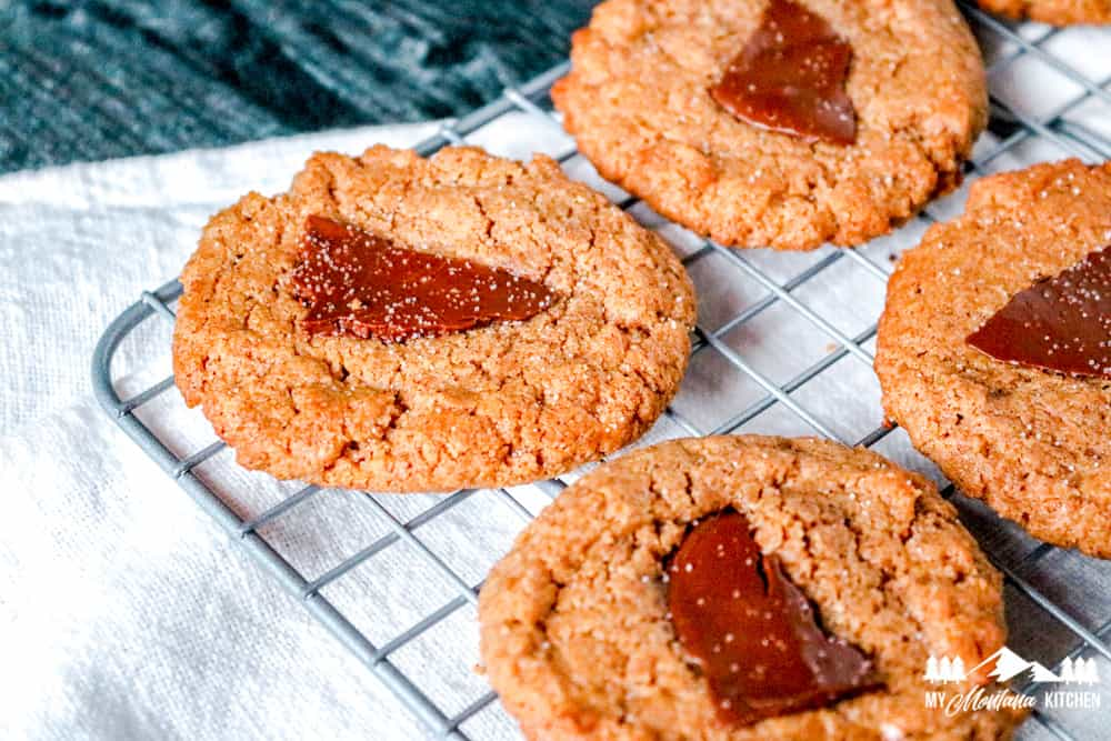 Keto Almond Butter Chocolate Cookies