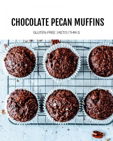 Keto Chocolate Pecan Muffins