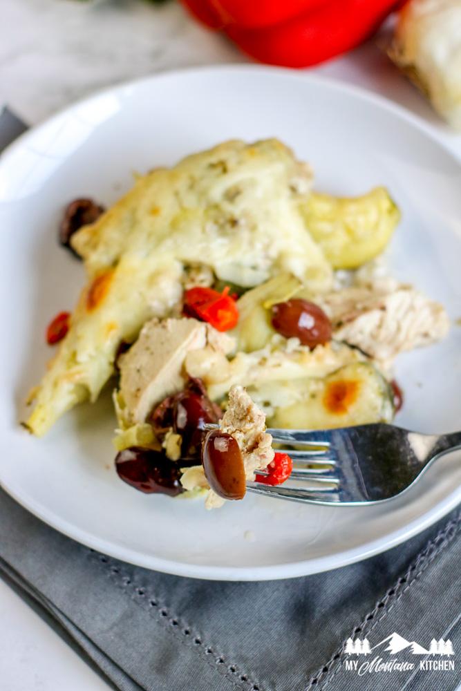 Low-Carb Greek Chicken Casserole