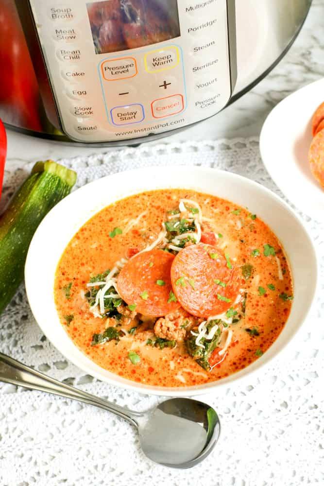 Low Carb Instant Pot Pizza Soup