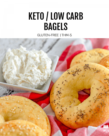 5 ingredients is all you need to make a homemade keto bagel. Top your bagels with whatever you want. A low carb bagel that is also gluten free and so simple to make.