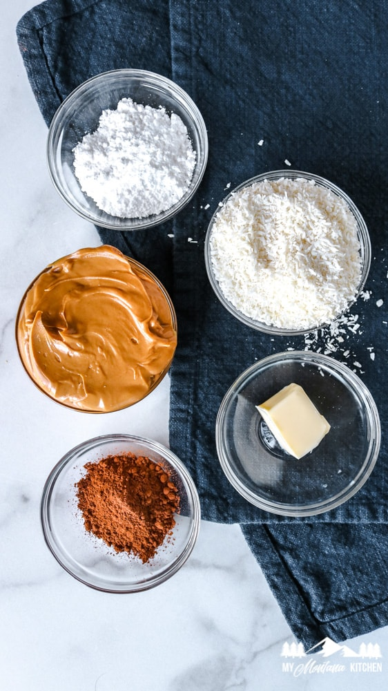 keto no-bake cookie ingredients