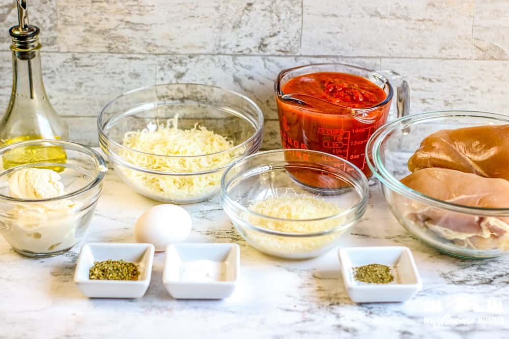 ingredients for lasagna stuffed chicken