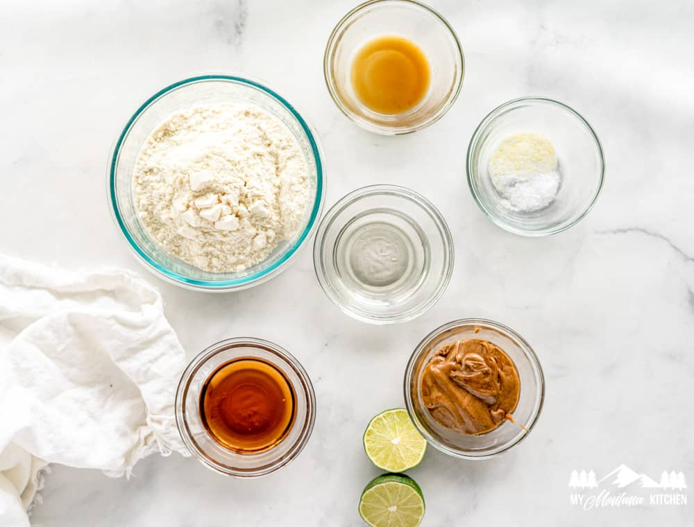 Ingredients for Keto Lime Energy Balls