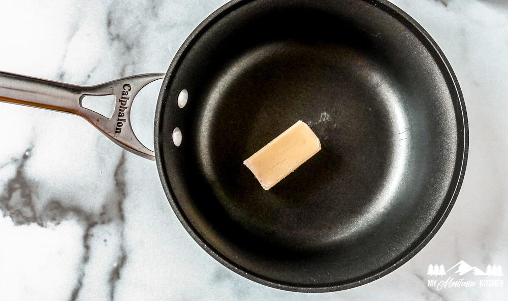 butter in nonstick skillet