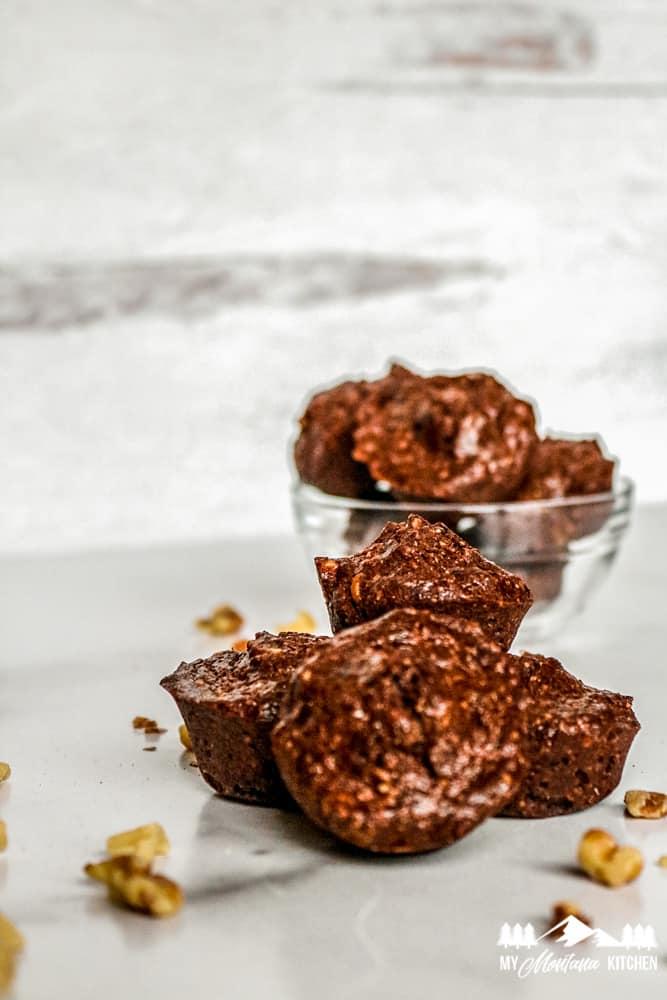 Keto Brownie Bites with Walnuts