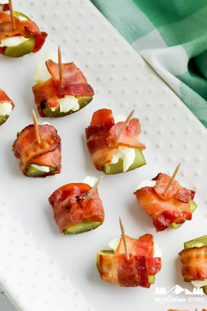 Bacon and Cream Cheese Pickles