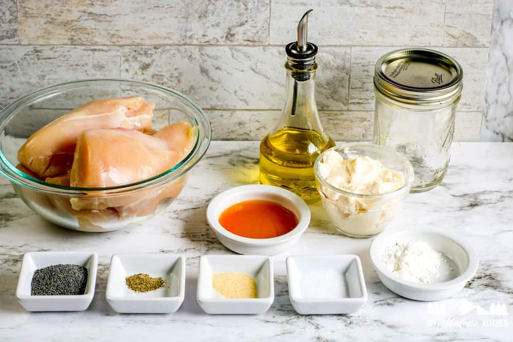 Ingredients for Chicken Blueberry Salad