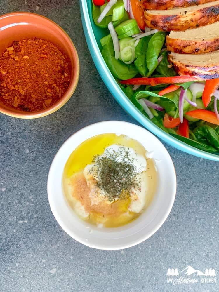 Grilled Buffalo Chicken Salad Dressing