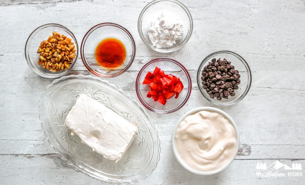 Ingredients for Cheesecake Yogurt Bark