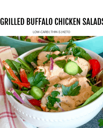 Grilled Buffalo Chicken Salad